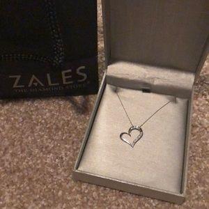 1/6 CT Diamond Zales Heart Pendant